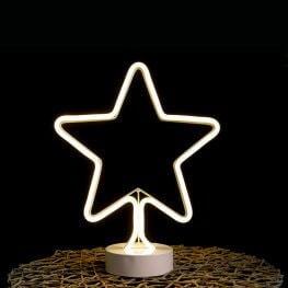 Neonfényű Csillag Ablakdísz