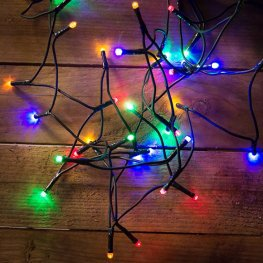Fényfüzér 80 db színes LED-del