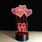 3D LOVE lámpa
