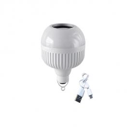 Akkumulátoros Bluetooth hangszórós LED izzó