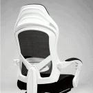 Ergonomikus forgószék lábtartóval