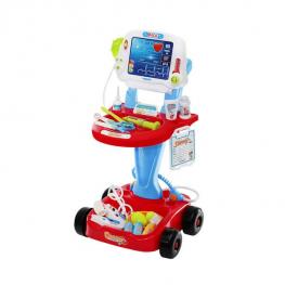 Játék orvosi kocsi EKG és egyéb kiegészítőkkel