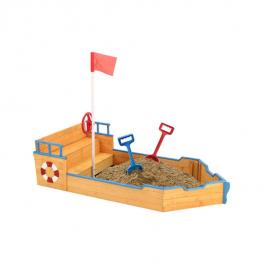 Kalózhajó formájú homokozó
