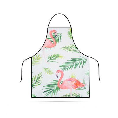 Konyhai kötény - Flamingó - 71 x 57 cm