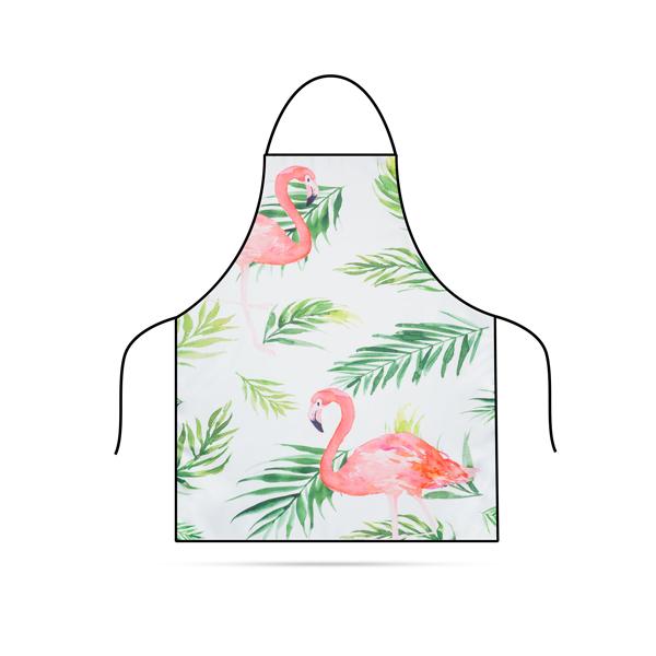 Konyhai kötény – Flamingó – 71 x 57 cm