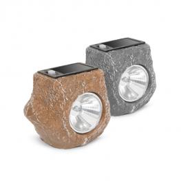 LED-es kültéri szolárlámpa - kő forma
