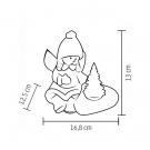 LED-es kerámia figura - Angyalka