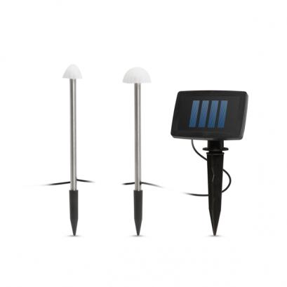 LED-es szolár lámpa - 12 db mini gomba