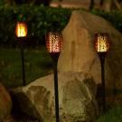 LED-es szolár lámpa - lángeffekttel