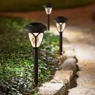 LED-es szolár lámpa - leszúrható, mintás plexivel
