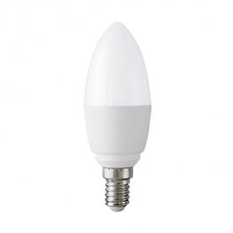 LED lámpa E14 gyertya 7 watt - 570 lumen - meleg fehér