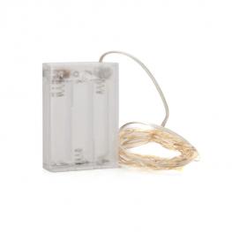 Micro LED-es elemes fényfüzér - Melegfehér