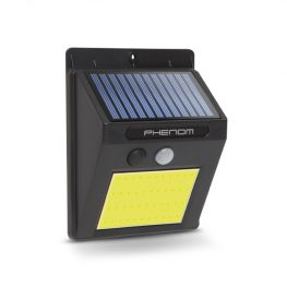 Mozgásérzékelős szolár reflektor - fali - COB LED