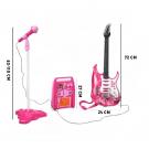 Pink elektromos gitár szett