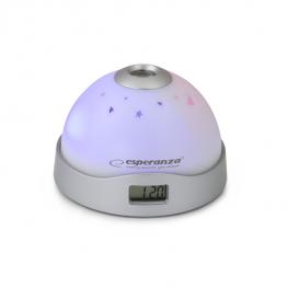 Projektoros ébresztőóra LED világítással