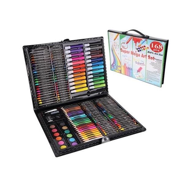 Rajz és festőkészlet – 168 darabos