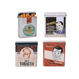 Retró fém cigarettatartó doboz