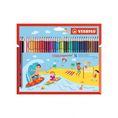 Stabilo Aquacolor színes ceruza készlet - 36 db-os