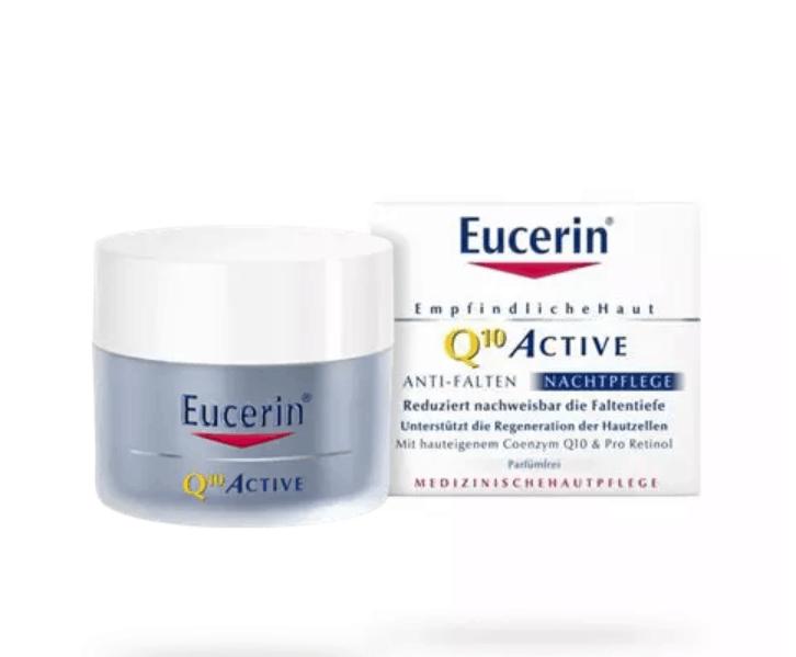 Eucerin Q10 ACTIVE Ránctalanító éjszakai arckrém 50ml..